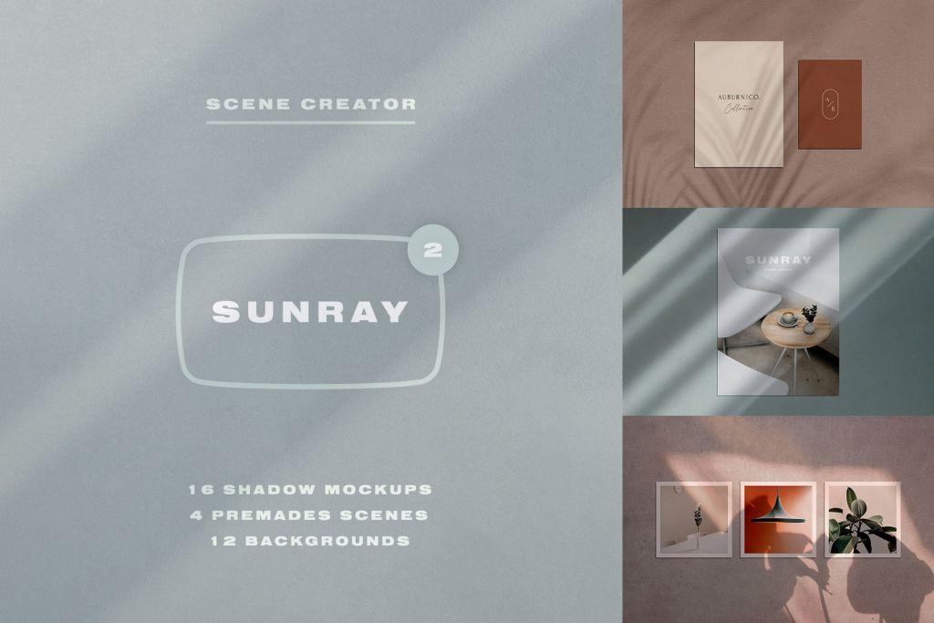 Sunray 2 – Stationery Shadow Mockups