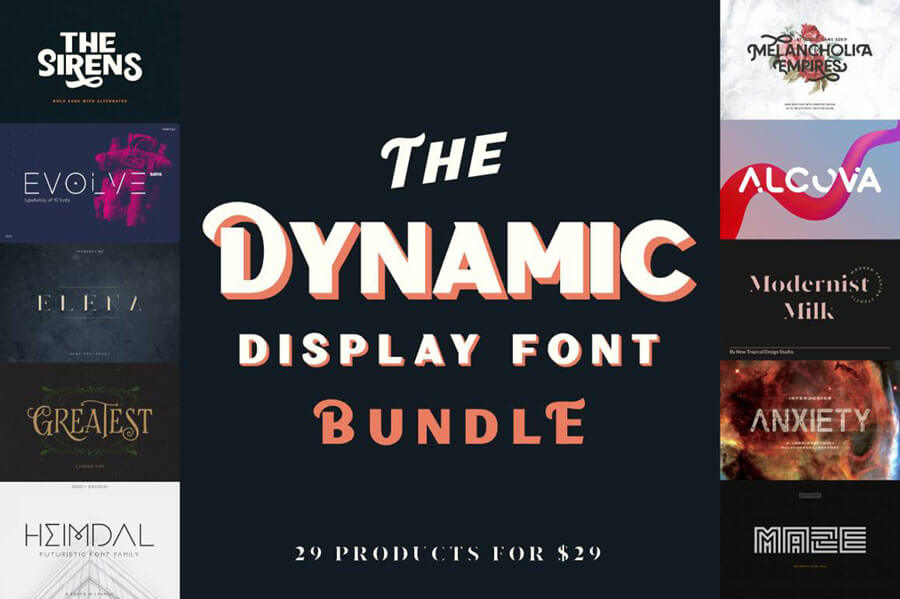 The Dynamic Display Font Bundle