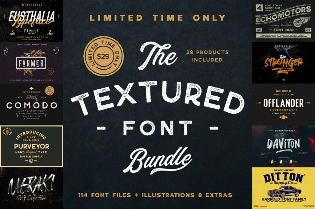 The Textured Font Bundle