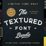 The Textured Font Bundle