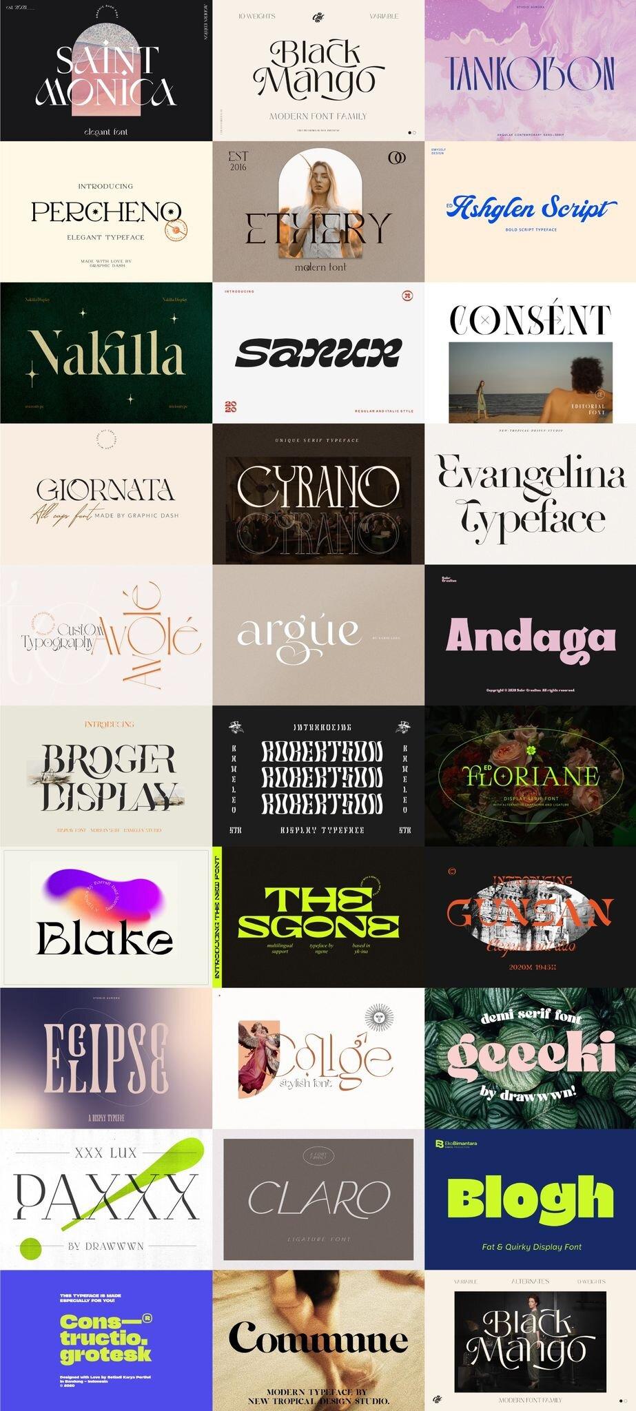 The Trendy & Modern Font Bundle