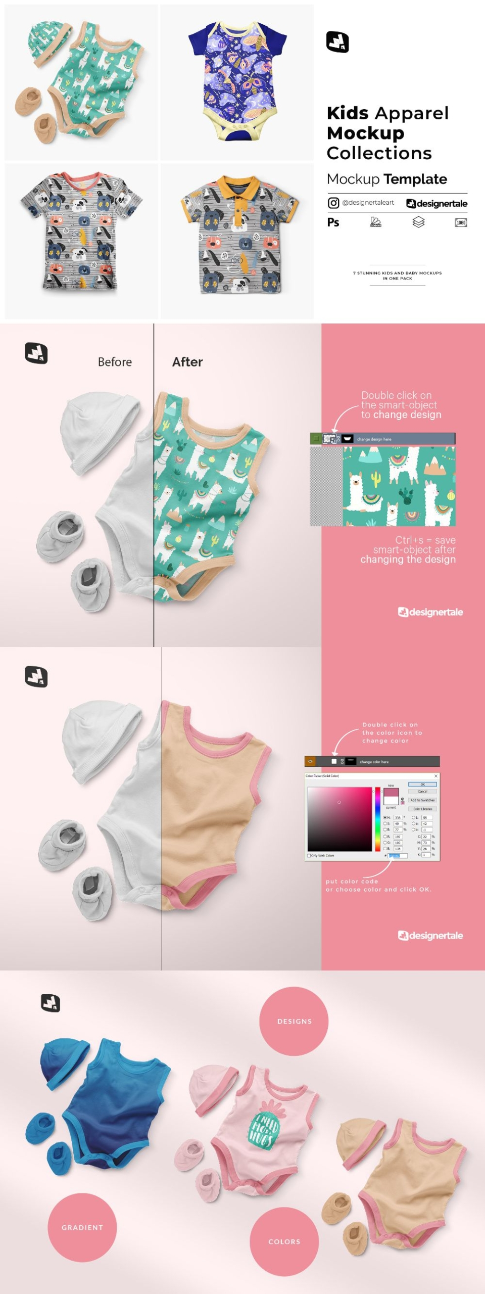 Kids Apparel Mockup Collections