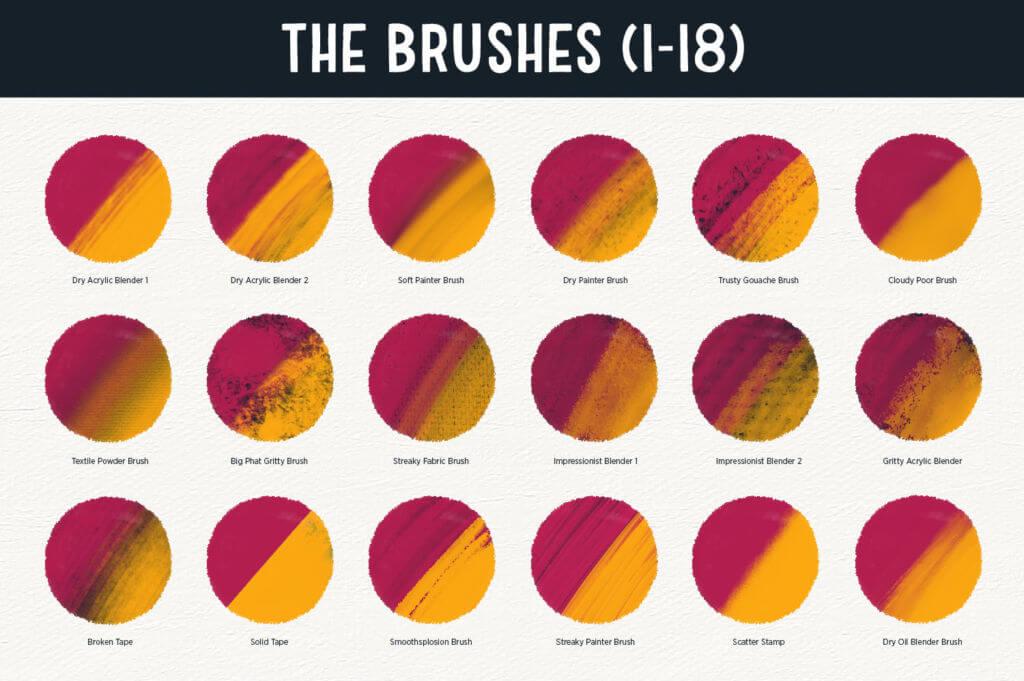 THE BRUSH BAR   60 DRAWING & SHADING BRUSHES FOR PROCREATE