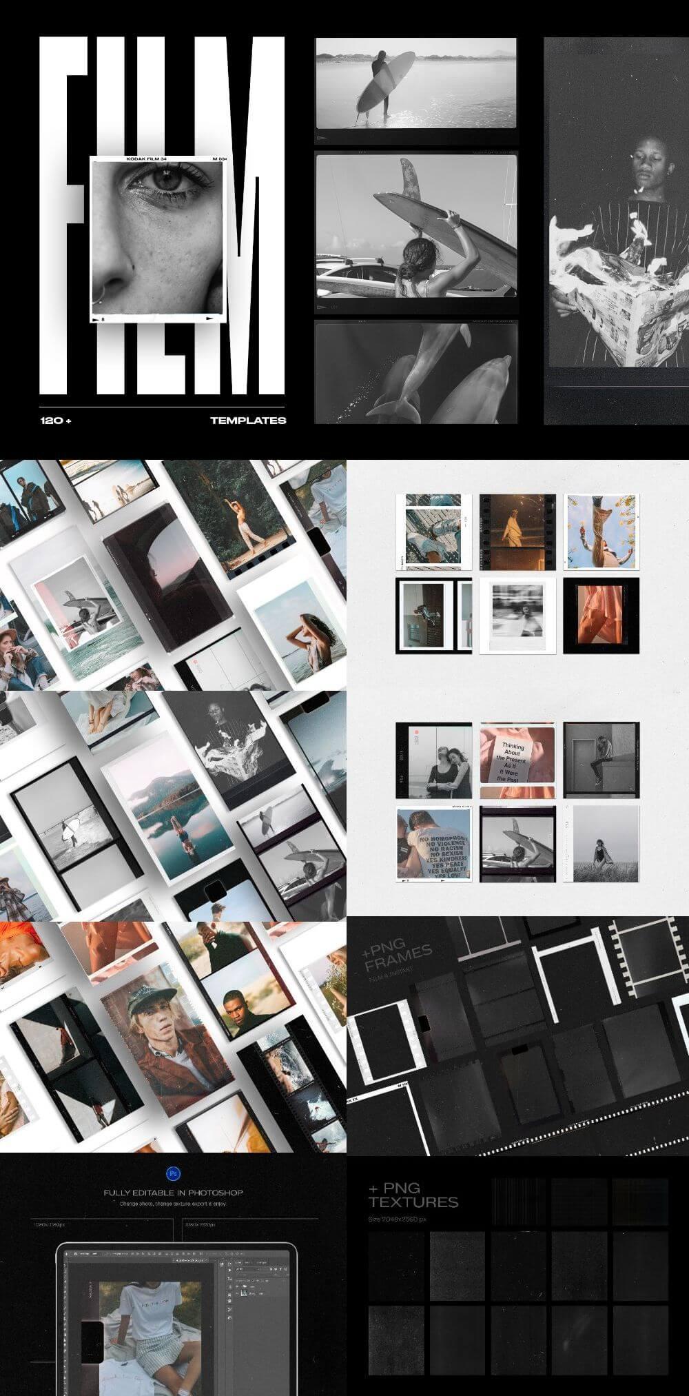 120+ Film Frames & Instant Stories & Posts