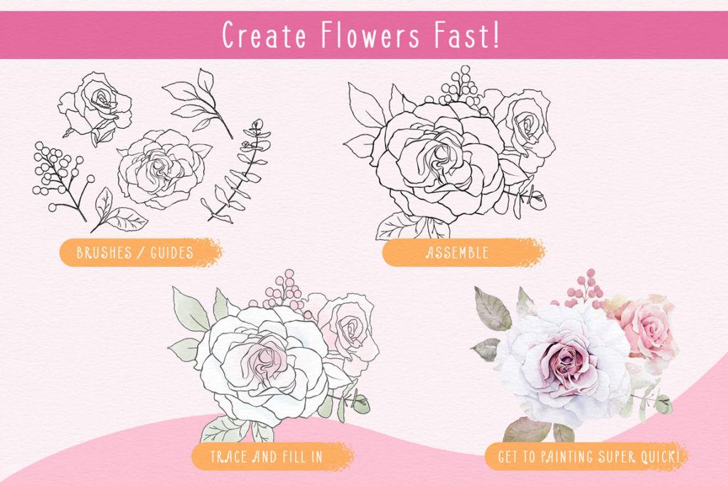 The Flower & Leaf Brush Box