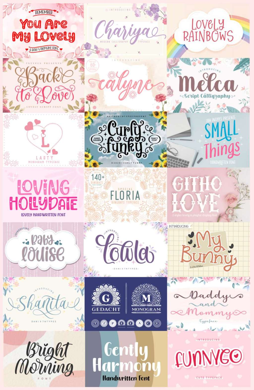 The Free Crafting Font Bundle