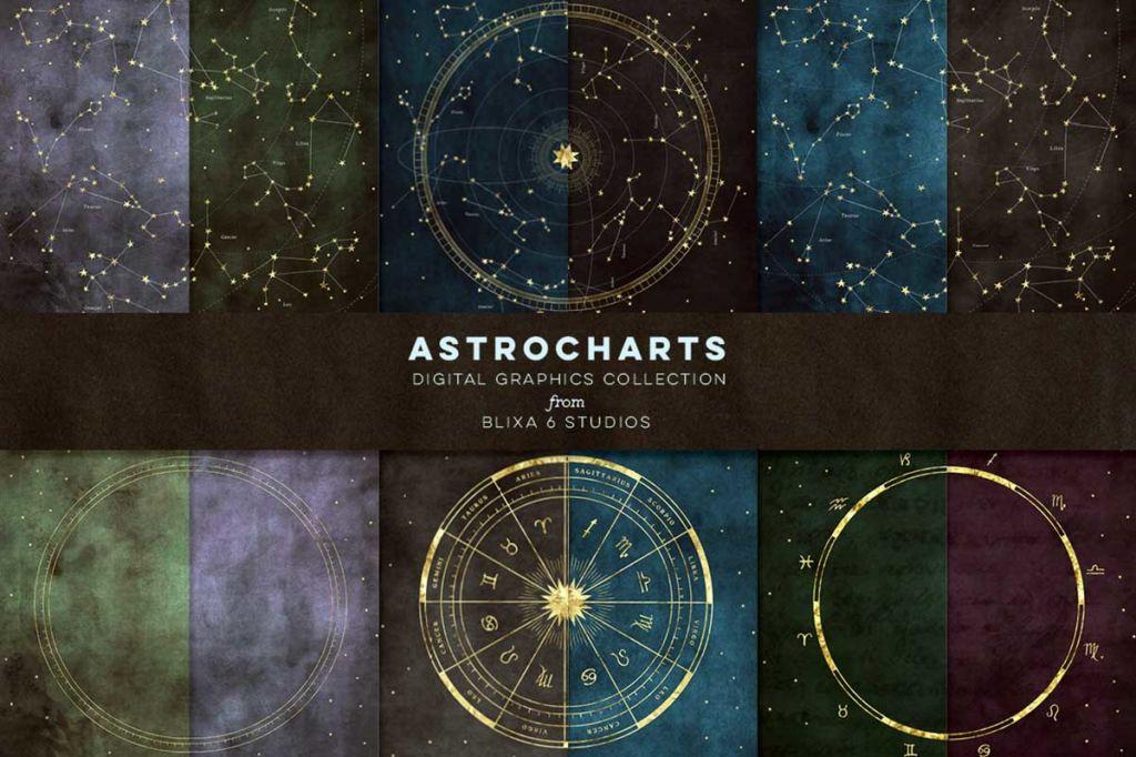 THE STAR ATLAS: GOLDEN ASTROLOGY SET