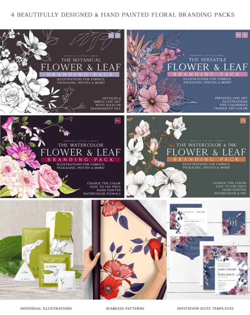 The Ultimate Flower & Leaf Branding Pack