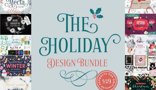 クリスマス向けのかわいいデザイン素材が26ドルで期間限定販売中【Pixel Surplus】