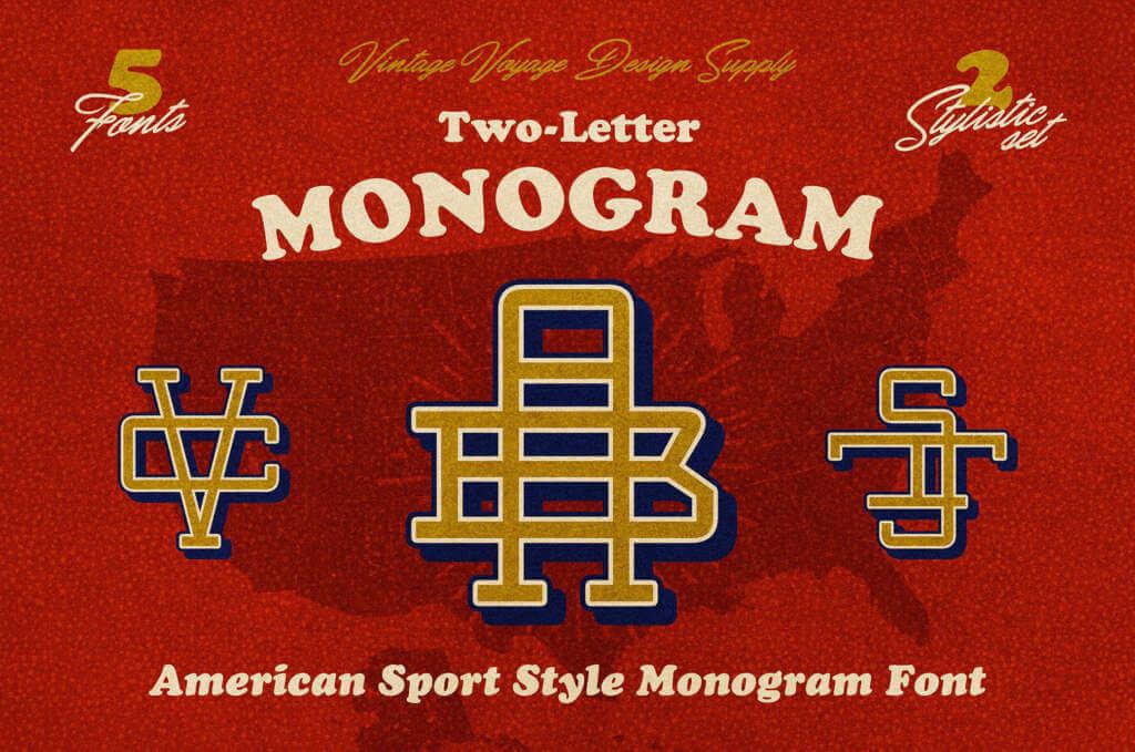 VINTAGE MONOGRAM FONT