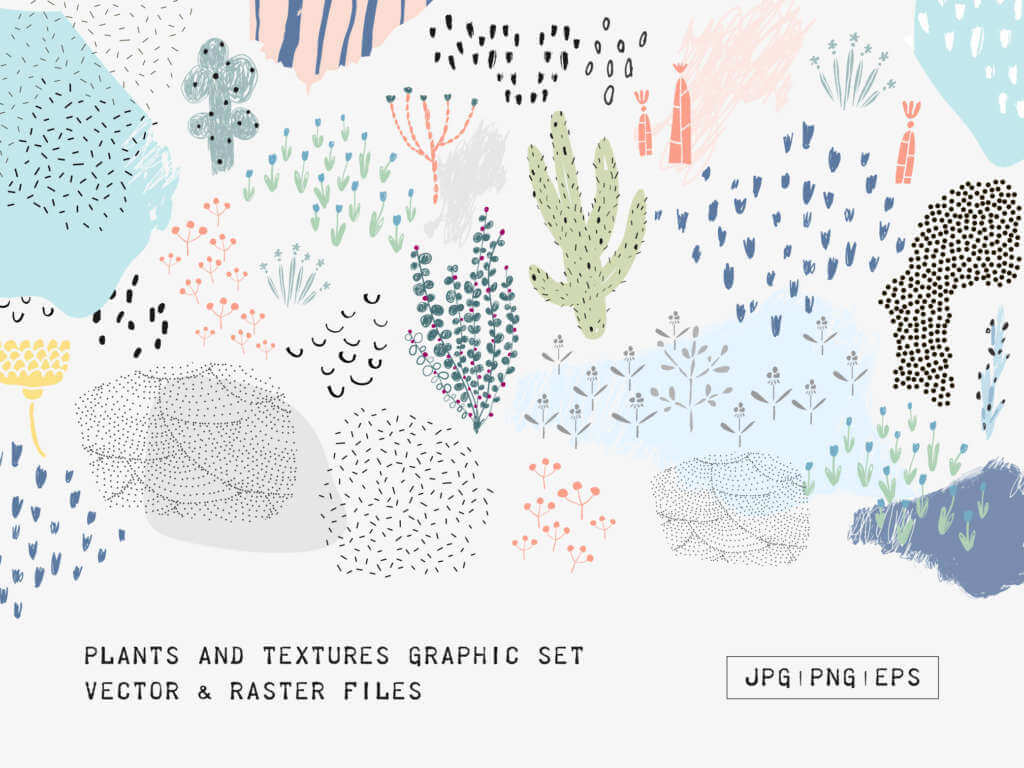 Vector Plants and Textures