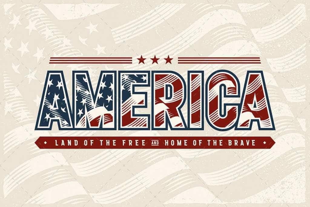 Vintage America Typography Logo