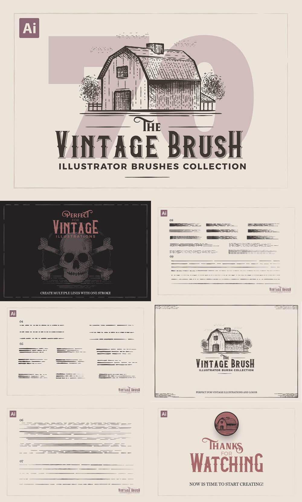 Vintage Illustrator Brushes