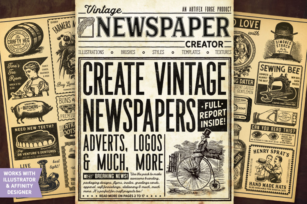 VINTAGE NEWSPAPER CREATOR