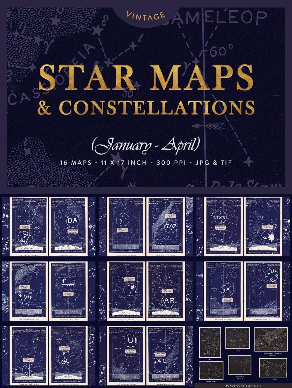 Vintage Star Maps January – April