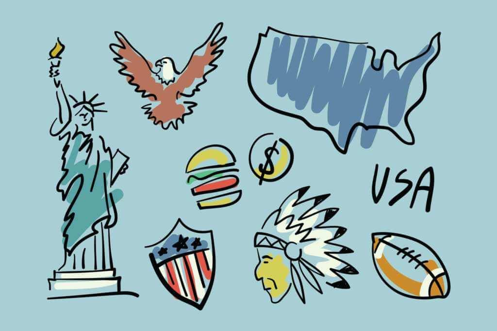 Visit USA Doodles