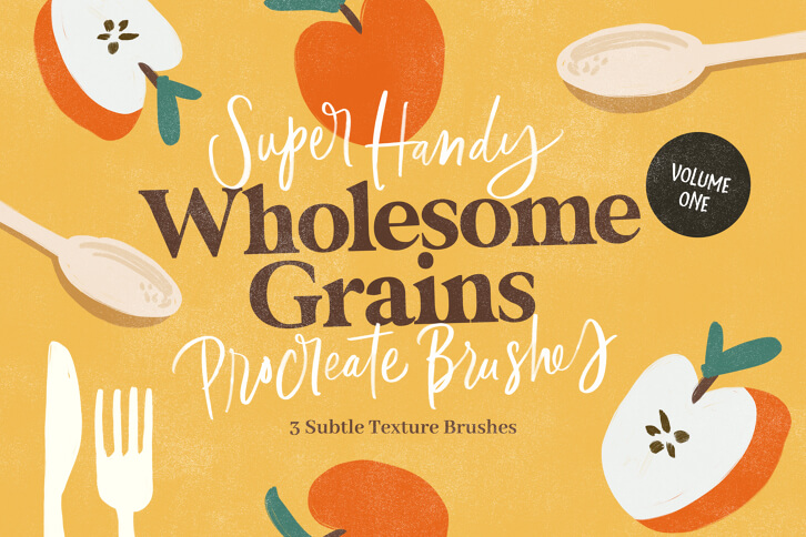 WHOLESOME GRAINS VOL.1 PROCREATE BRUSHES