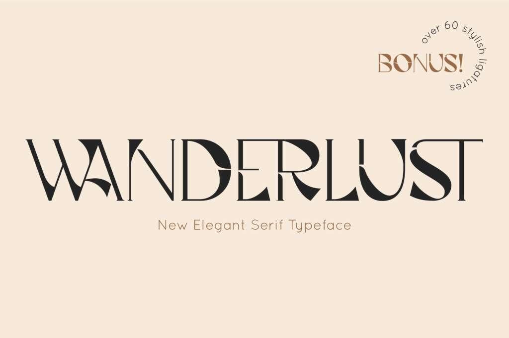 Wanderlust Serif Font
