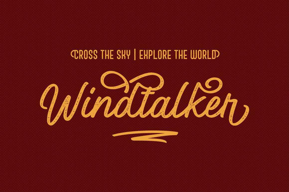 Windtalker Rough Font Duo