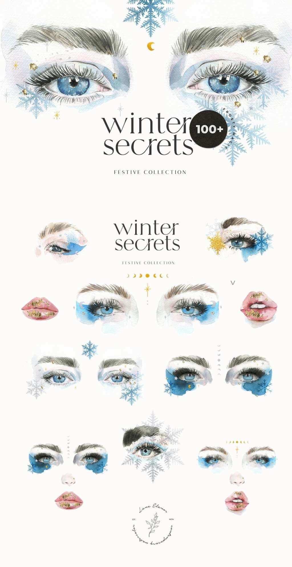 Winter Secrets – Christmas Watercolor Magical Set