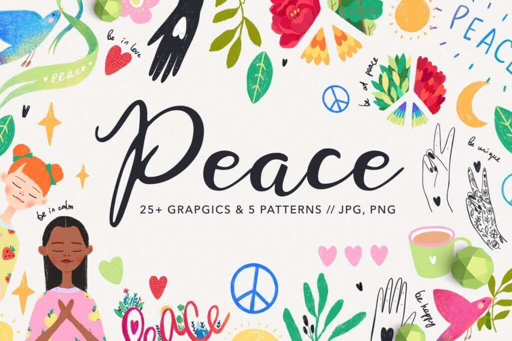 World Peace and Love Graphics
