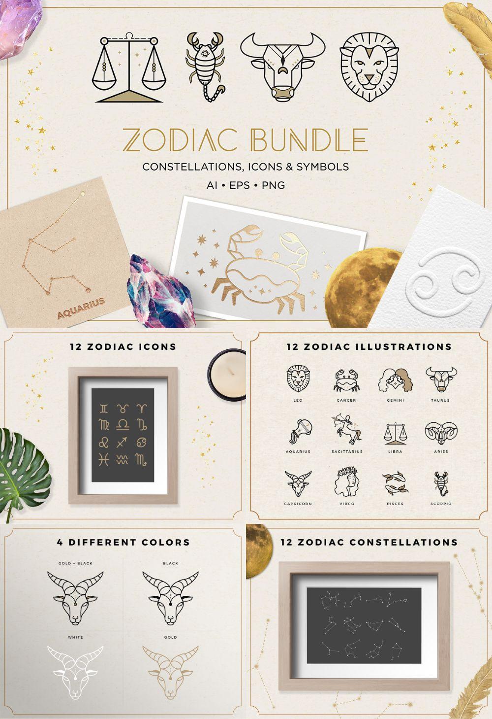 Zodiac Astrology Graphics Bundle