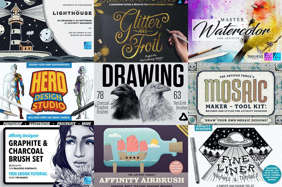 7月26日まで1週間限定!Affinity Designer & Photo対応ブラシが最大50%オフ【まとめ買いでさらに最大50%割引も】
