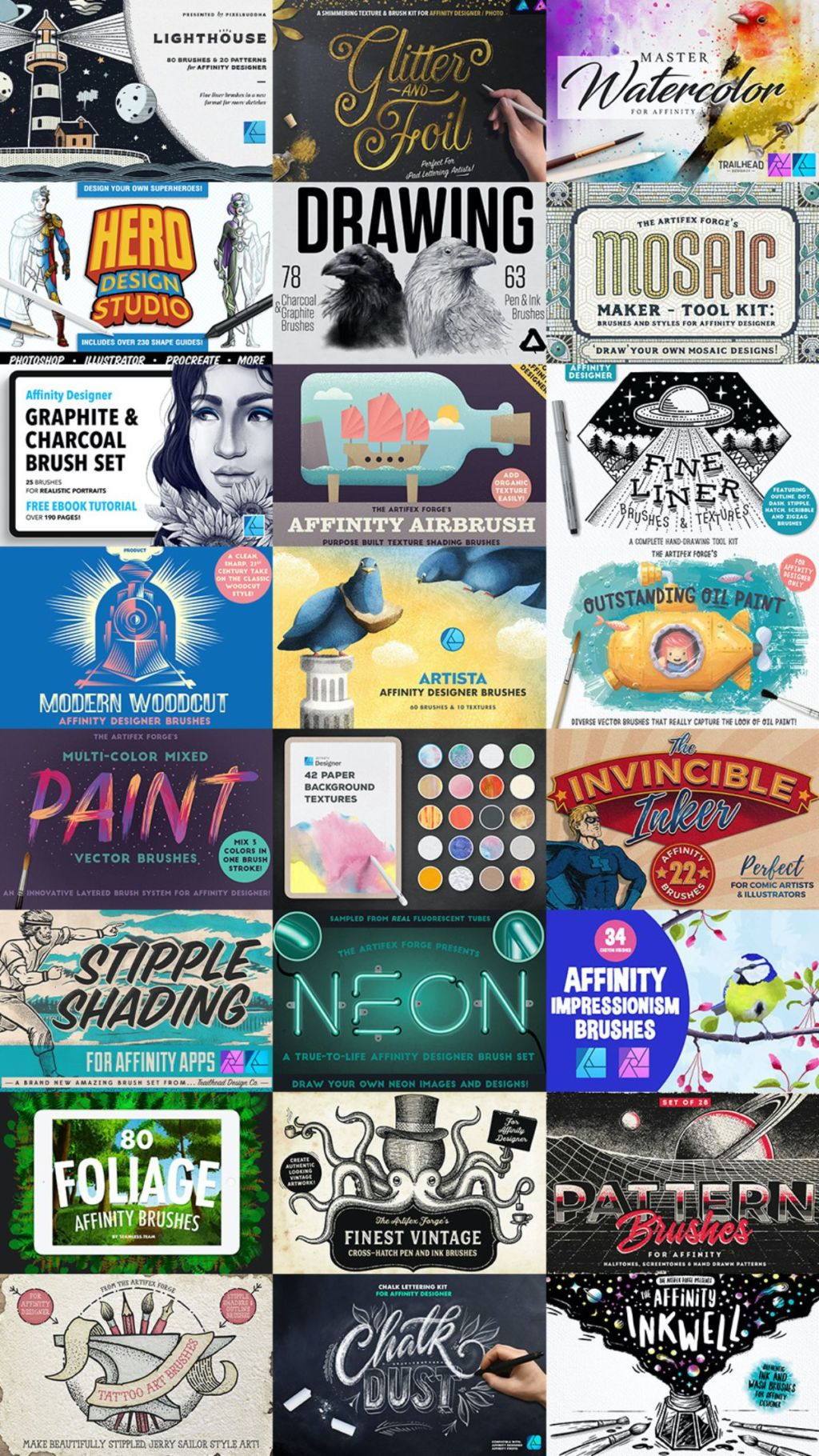 Affinity designer and photo brush sale list