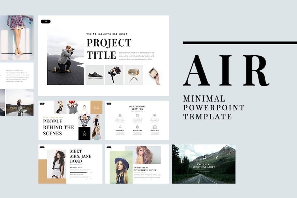 Air - Minimal Powerpoint Template