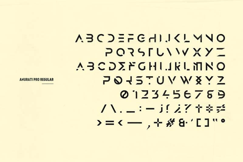 Anurati Pro — typeface (2 weights)