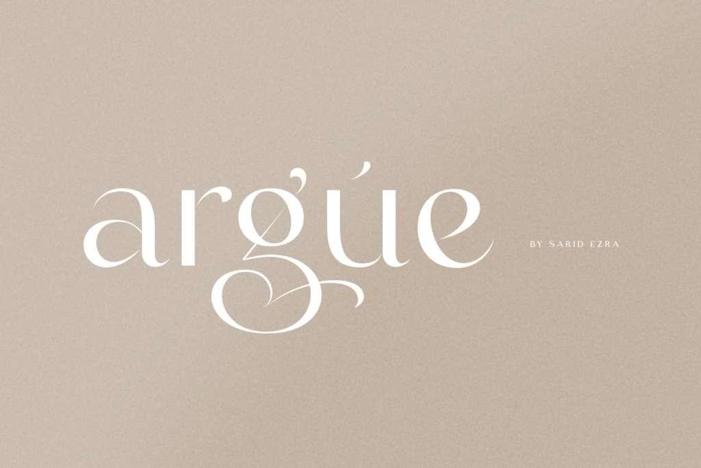 Argue - Stylish Font