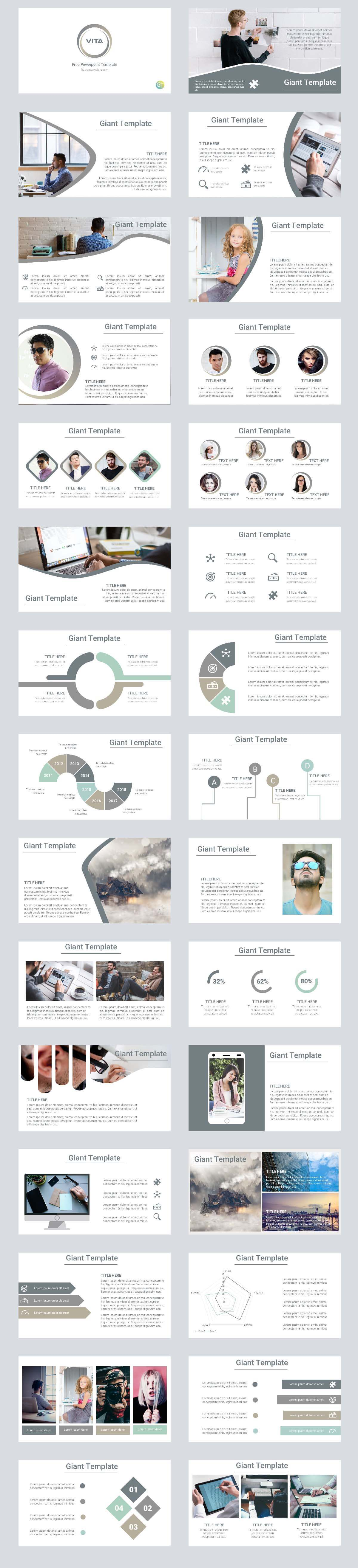 VITA - FREE BUSINESS POWERPOINT TEMPLATE