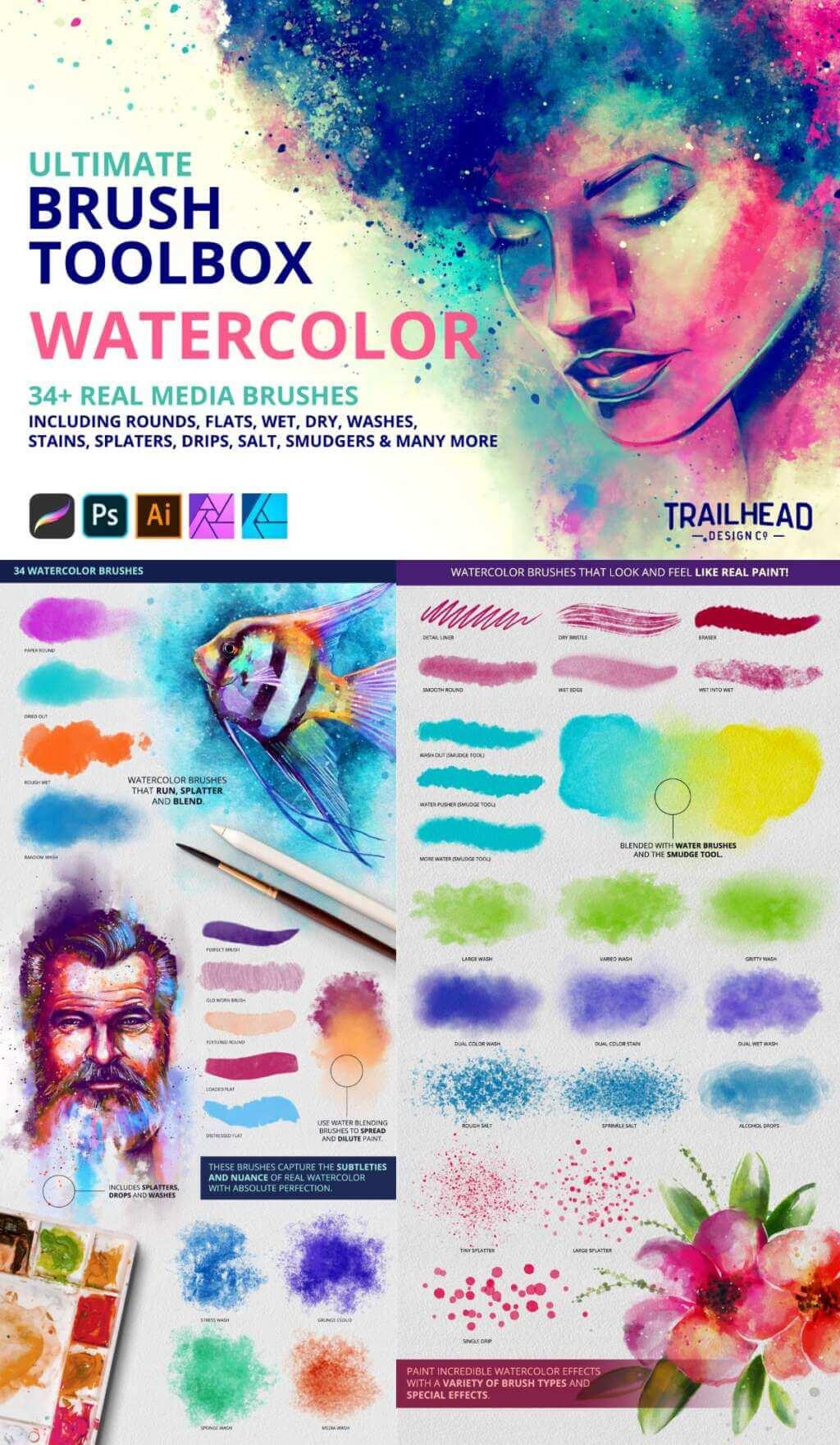 Ultimate Brush Toolbox – Watercolor
