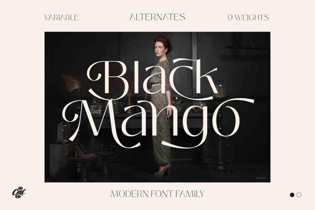 Black Mango - Modern beauty font