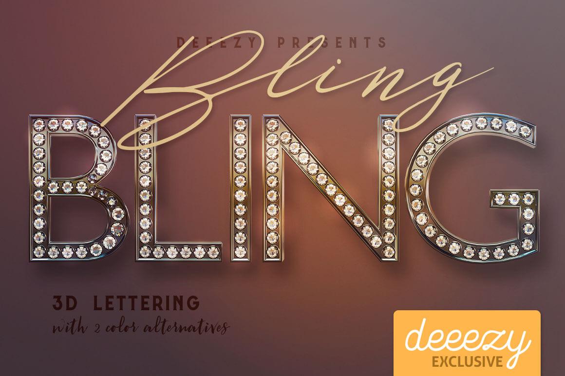 bling-bling-3D-lettering-Deeezy-1