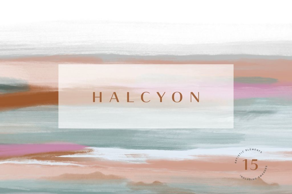 Halcyon -Artistic Textures + Swashes