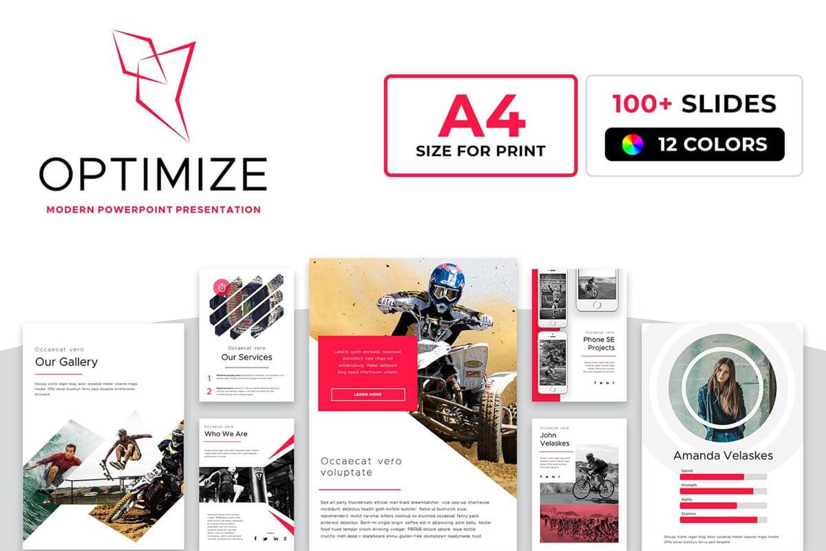 A4 Optimize Powerpoint Template