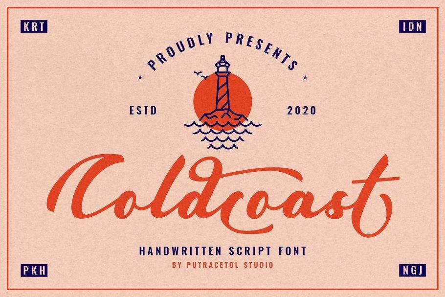 Coldcoast - Modern Handwritten Font
