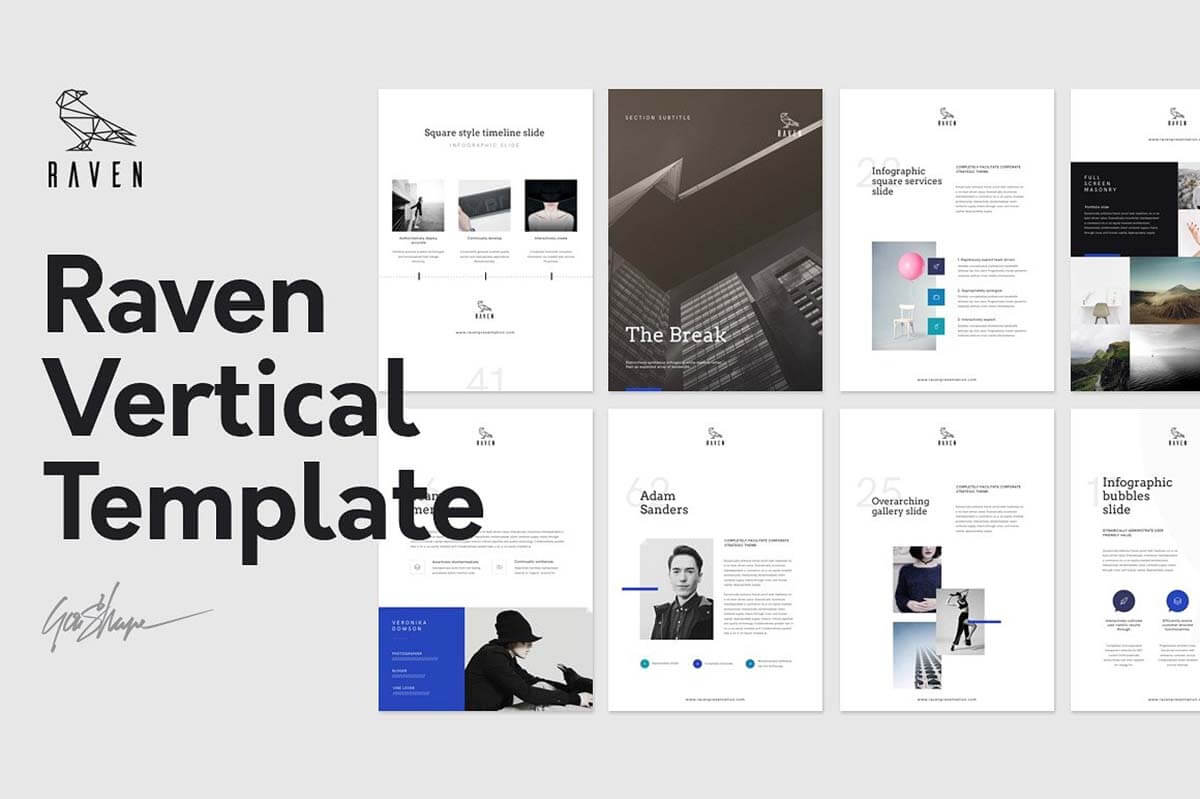 Raven Vertical Keynote Template