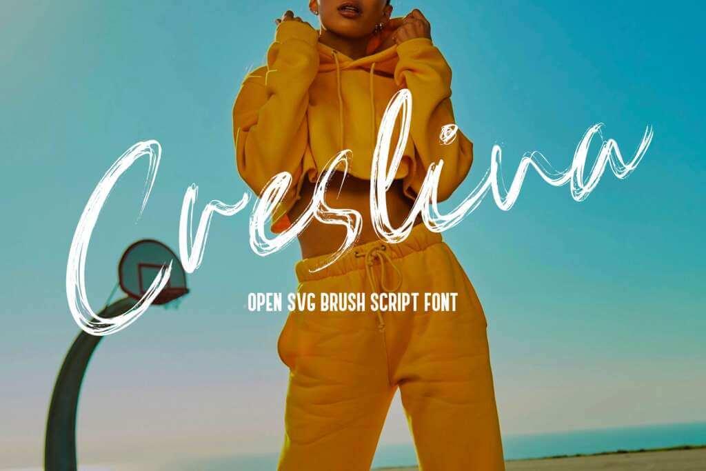 Creslina - SVG Brush Script Font