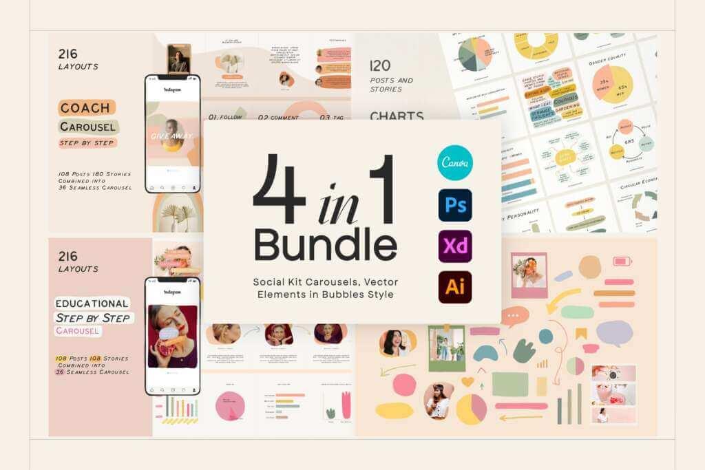 SALE - 4in1 Bundle Social Kits