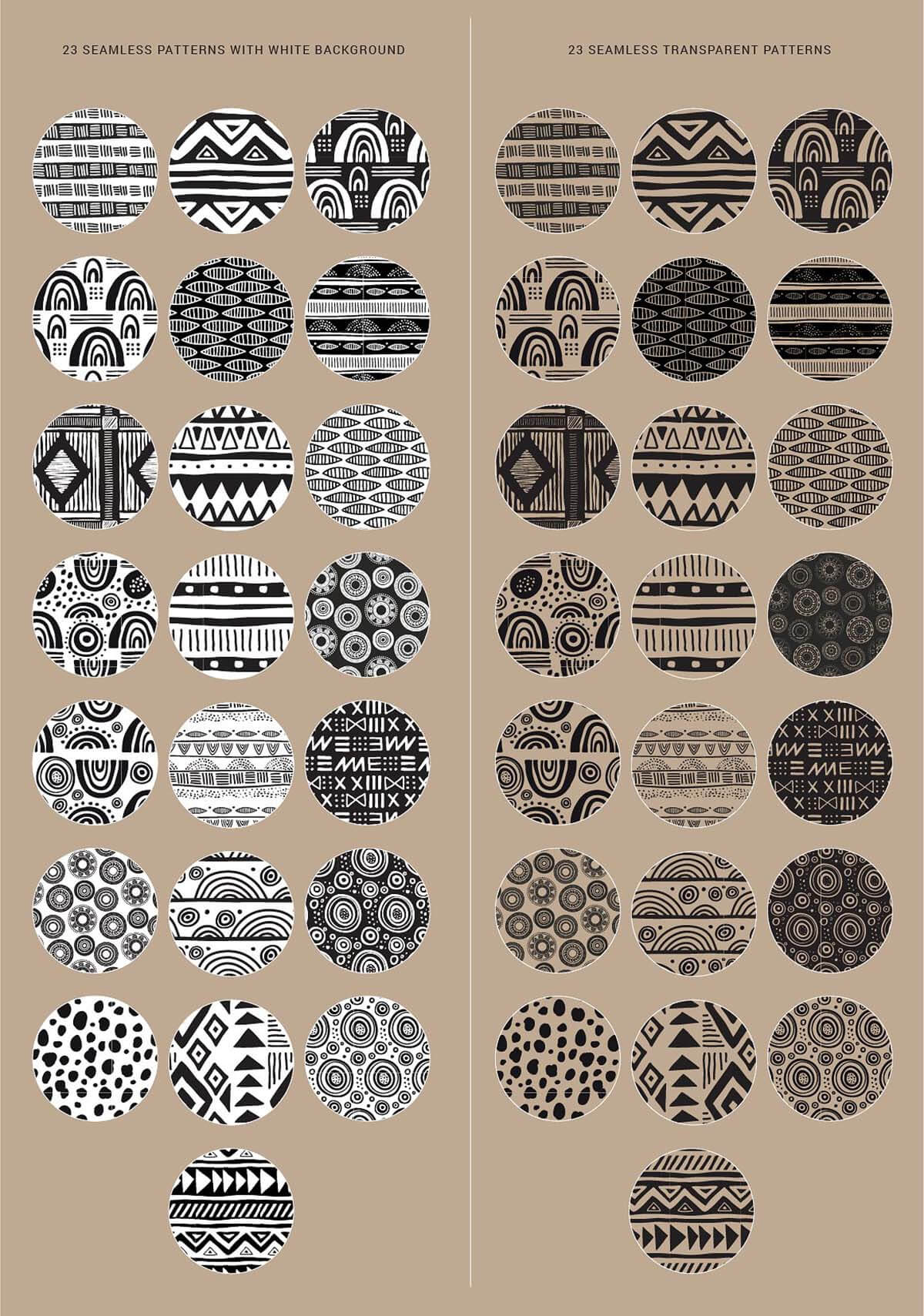 AFRICAN DREAM – PATTERNS AND BRUSHES