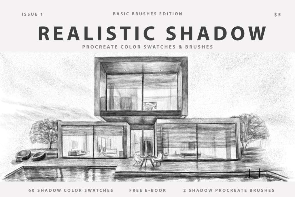 Realistic Shadow Procreate Brushes