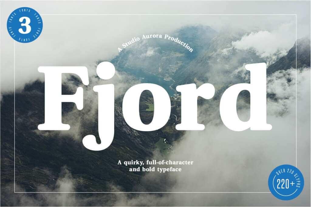 Fjord - Soft Fat Serif Font