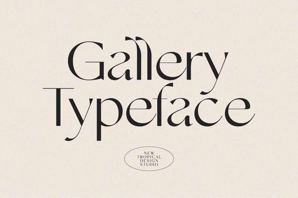 Gallery Modern Font