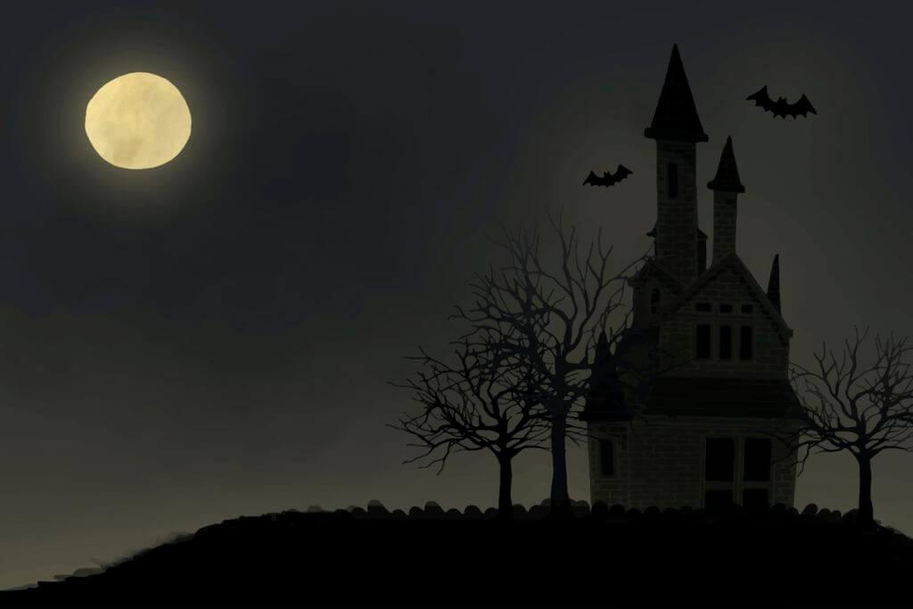 Illustration of Halloween themed background vector