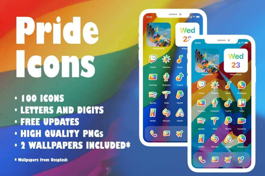 iOS 14 LGBT & Pride Icons for iPhone