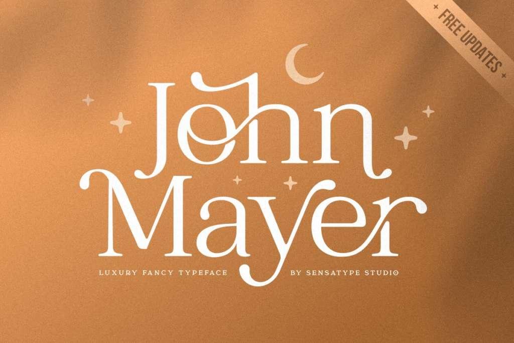John Mayer - Fancy Ligature Font