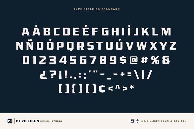 League – Display Typeface