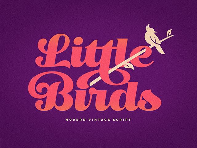 LITTLE BIRD: VINTAGE SCRIPT FONT